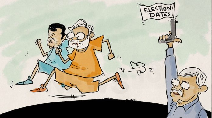 Loksabha Election Dates-Rahul Gandhi-Modi-spectacle-in-indian-election-tamasha-chunav-IndiNews