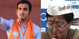 gautam-gambhir-sends-defamation-notice-to-kejriwal-sisodia-atishi-पर्चा विवाद पर गंभीर ने केजरीवाल, सिसोदिया और आतिशी को मानहानि का नोटिस भेजा
