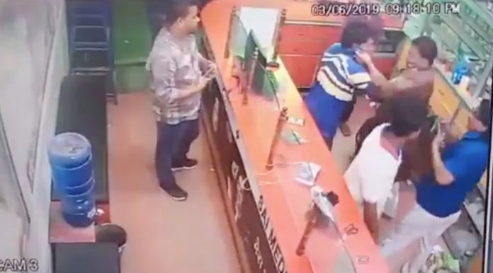 cctv-brother-of-bjp-vice-president-renu-devi-beaten-a-shopkeeper-for-not-welcoming-him